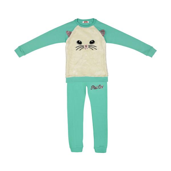 ست تی شرت و شلوار دخترانه مادر مدل LarisaTurquoise-54