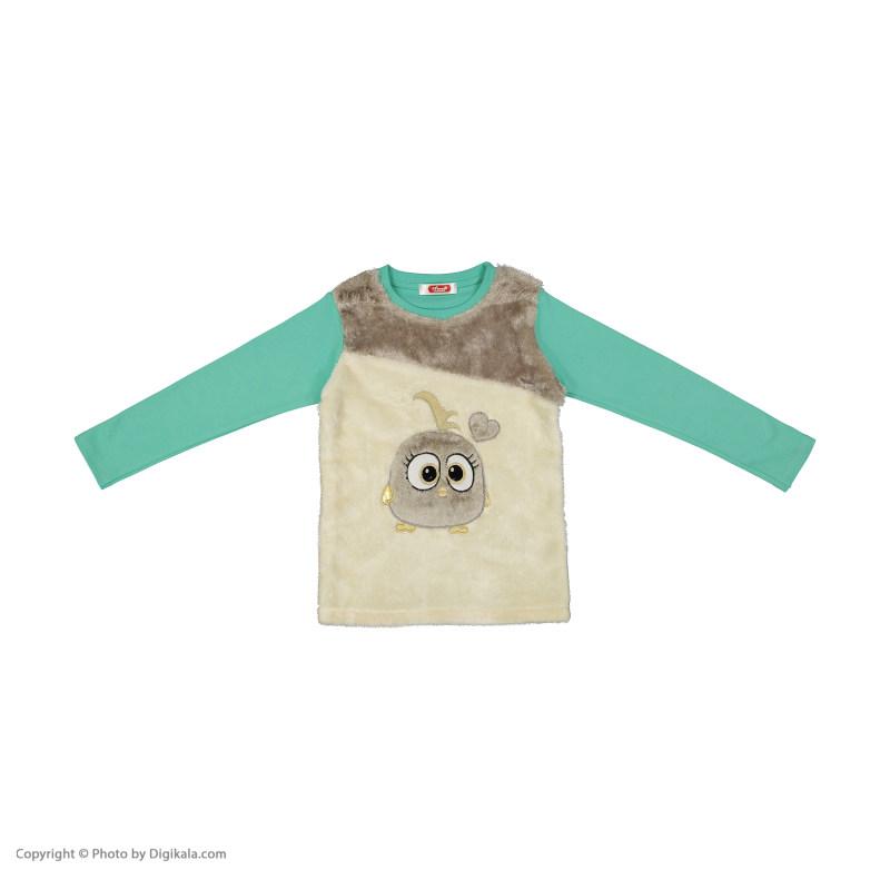 ست تی شرت و شلوار دخترانه مادر مدل TimanaTurquoise-54