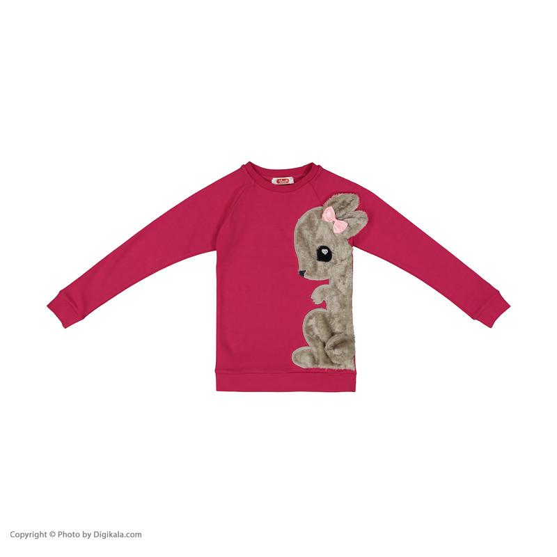ست تی شرت و شلوار دخترانه مادر مدل sherryFuchsia-66