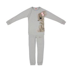 ست تی شرت و شلوار دخترانه مادر مدل SherryGray-93