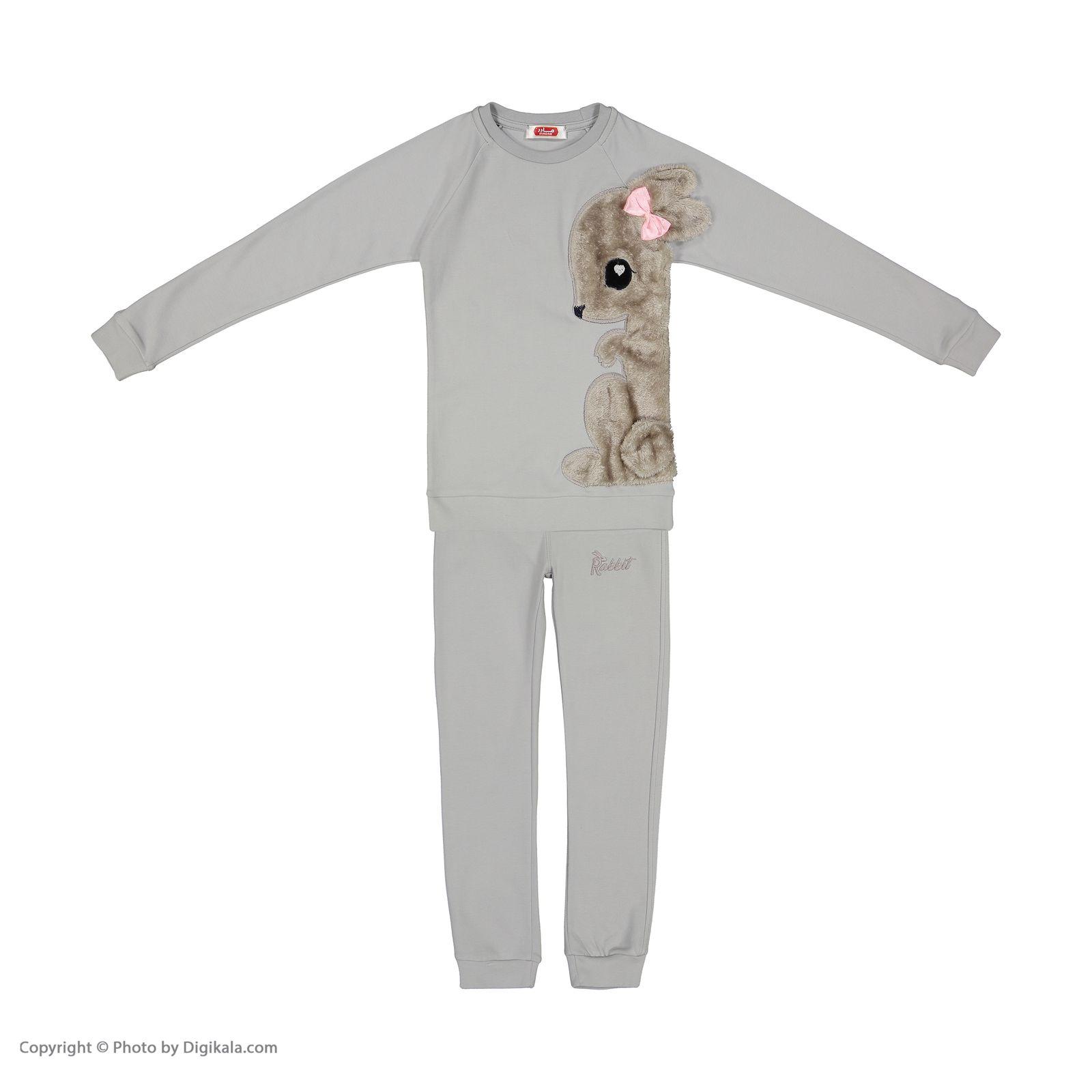 ست تی شرت و شلوار دخترانه مادر مدل SherryGray-93 main 1 1