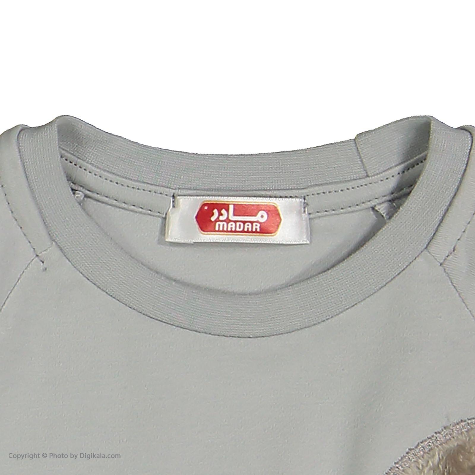 ست تی شرت و شلوار دخترانه مادر مدل SherryGray-93 main 1 4