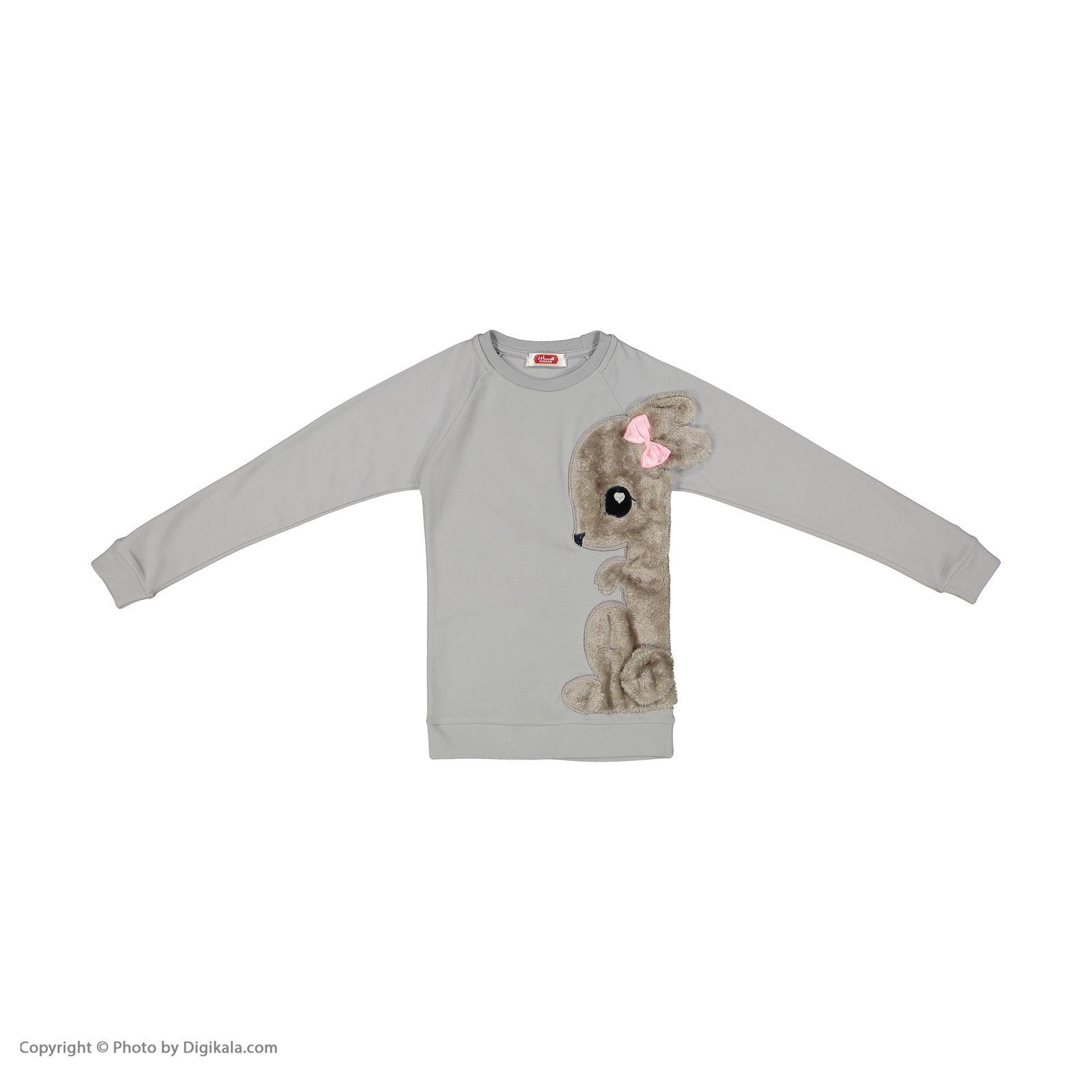 ست تی شرت و شلوار دخترانه مادر مدل SherryGray-93 main 1 2