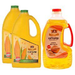 روغن كنجد تصفیه شیررضا - 1.8 لیتر به همراه روغن ذرت مجموعه 3 عددی