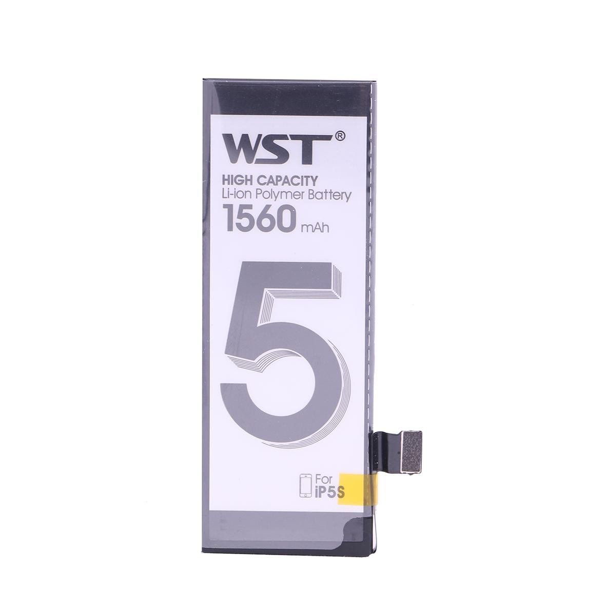 باتری موبایل مدل WST-01 ظرفیت 1560 میلی آمپر ساعت مناسب برای گوشی موبایل اپل IPhone 5s