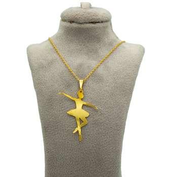 گردنبند طلا زنانه طرح باله کد 08
