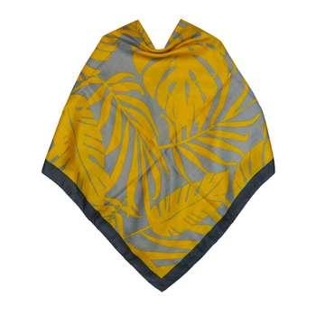 روسری زنانه اچ پی اس طرح برگ کد KRN-030
