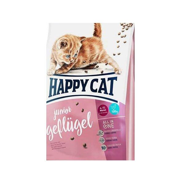 غذای خشک گربه هپی کت مدل JuniorGefliigel وزن 10 کیلوگرم