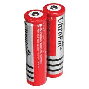 باتری لیتیوم یون قابل شارژ اولترا فایت مدل 18650 ظرفیت 6800 میلی آمپر ساعت بسته دو عددی