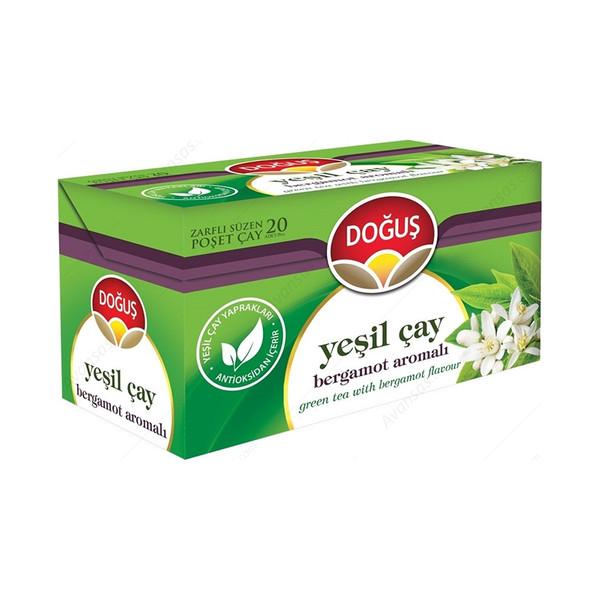 دمنوش چای سبز و گل برگاموت دوغوش بسته 20 عددی