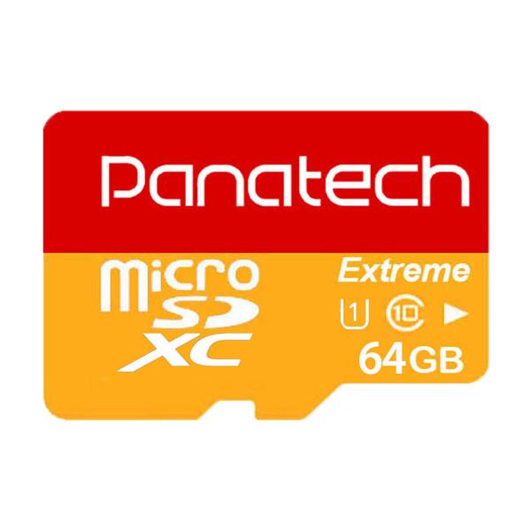 کارت حافظه microSDXC پاناتک مدل Extreme کلاس 10 استاندارد UHS-I U1 سرعت 30MBps ظرفیت 64 گیگابایت