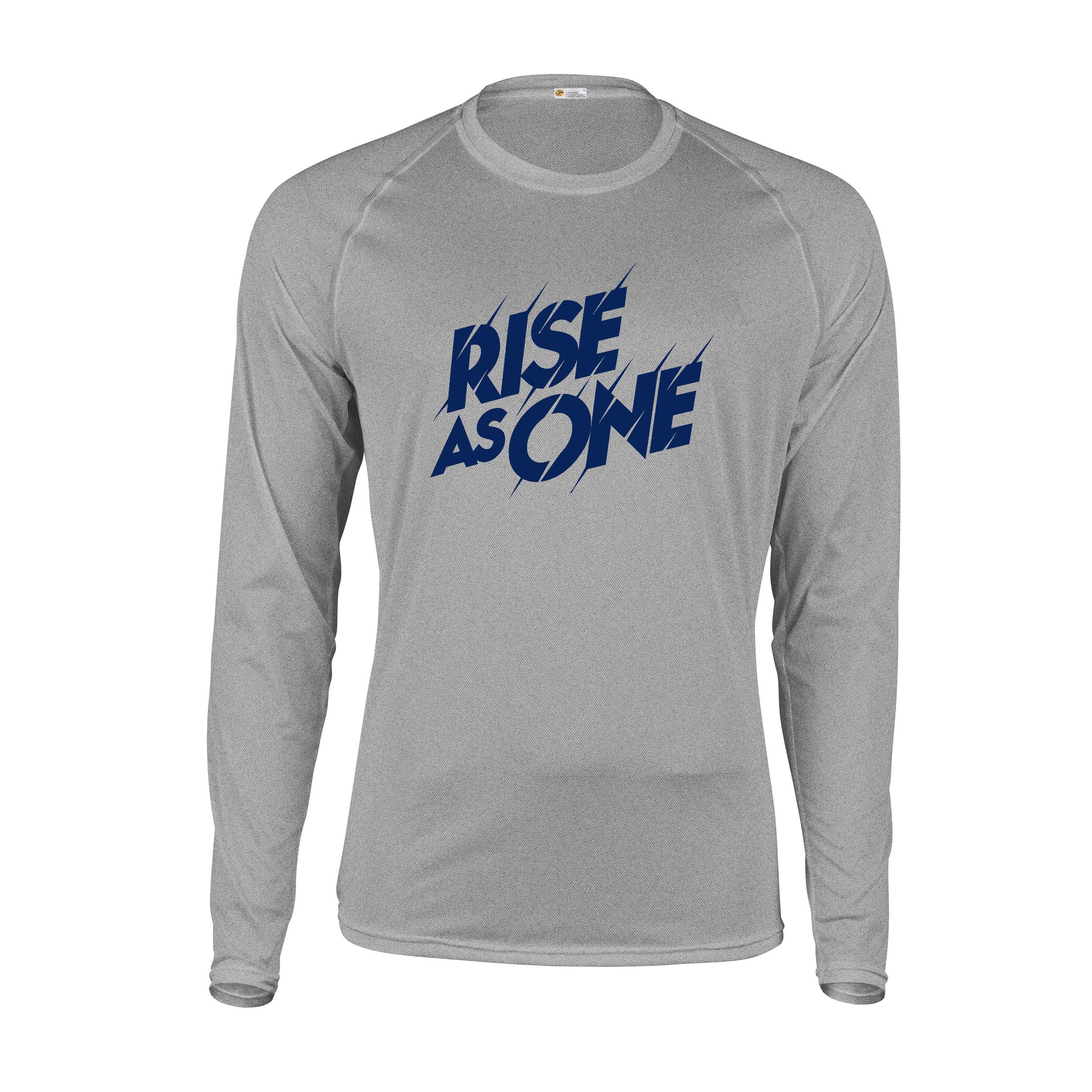 تیشرت آستین بلند مردانه پاتیلوک طرح Rise as One کد 330901
