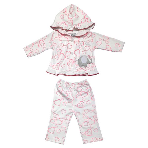 ست هودی و شلوار نوزادی دخترانه مدل 245311