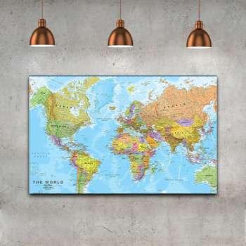 تابلو بوم مدل نقشه جهان کد TS-8