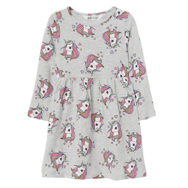 پیراهن دخترانه اچ اند ام مدل Unicorn G