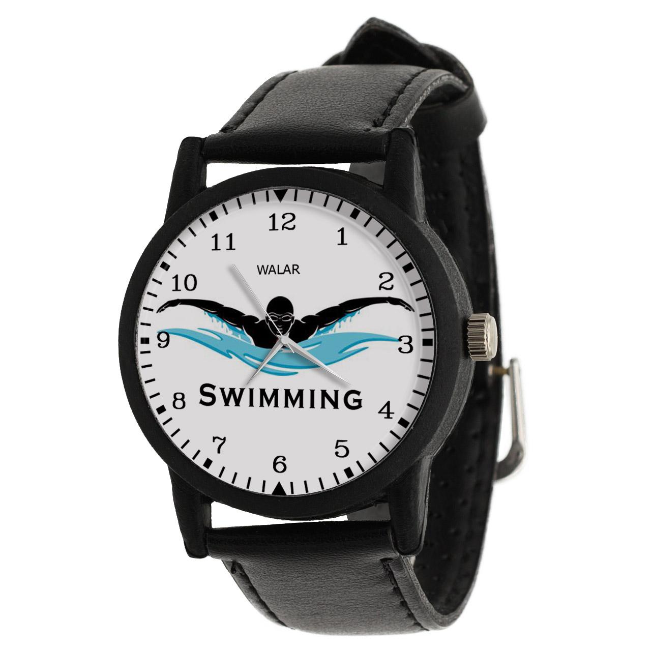 کد تخفیف                                      ساعت مچی عقربه ای مردانه والار طرح شنا کد LF2012