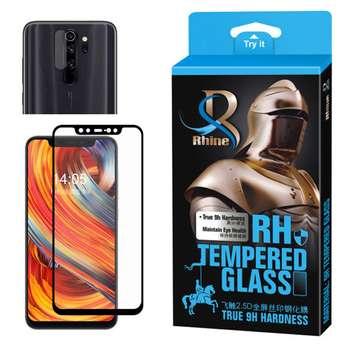 محافظ صفحه نمایش 9D راین مدل R_9L مناسب برای گوشی موبایل شیائومی Redmi Note 8 Pro به همراه محافظ لنز دوربین