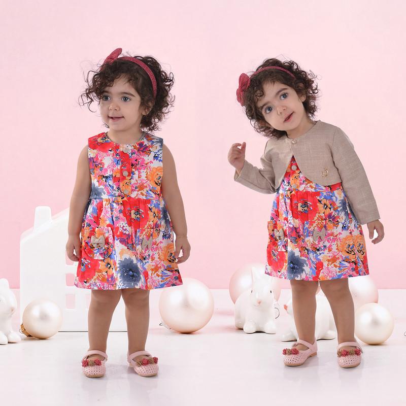ست کت و پیراهن نوزادی مدل بهار کد P1011
