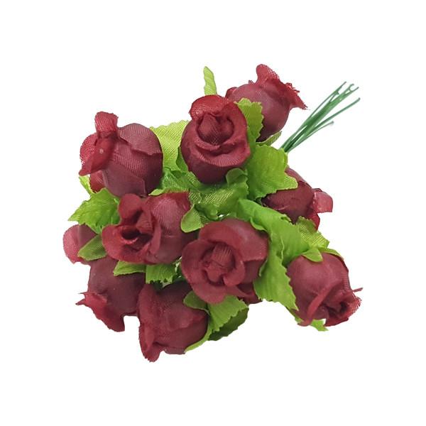 گل مصنوعی مدل غنچه بسته 12 عددی