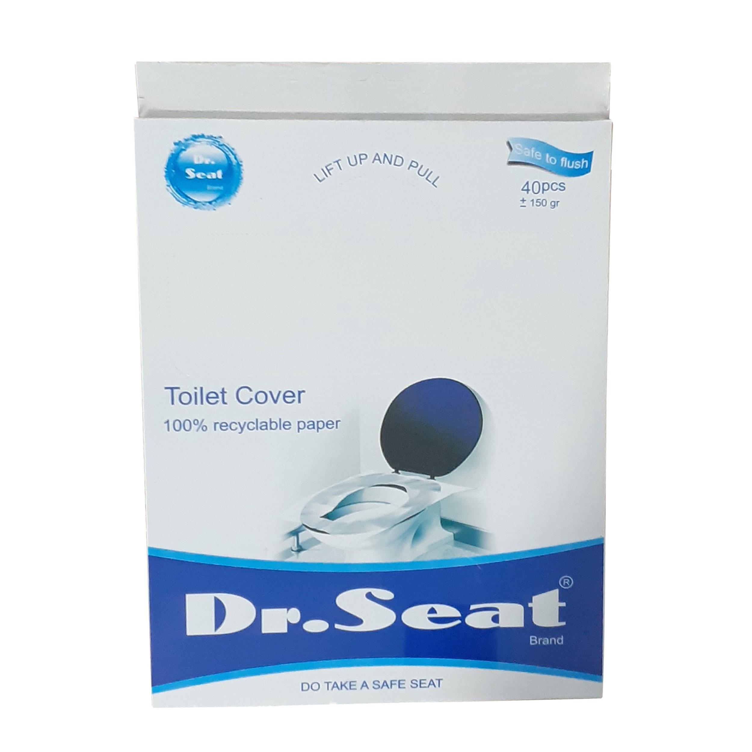 روکش یکبار مصرف توالت فرنگی دکتر سیت مدل 171_Travel Pack بسته 40 عددی