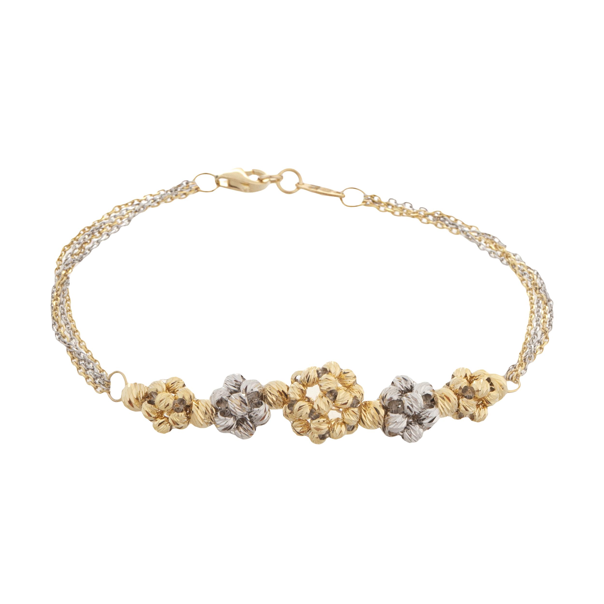 دستبند طلا 18 عیار زنانه آلند کد H91
