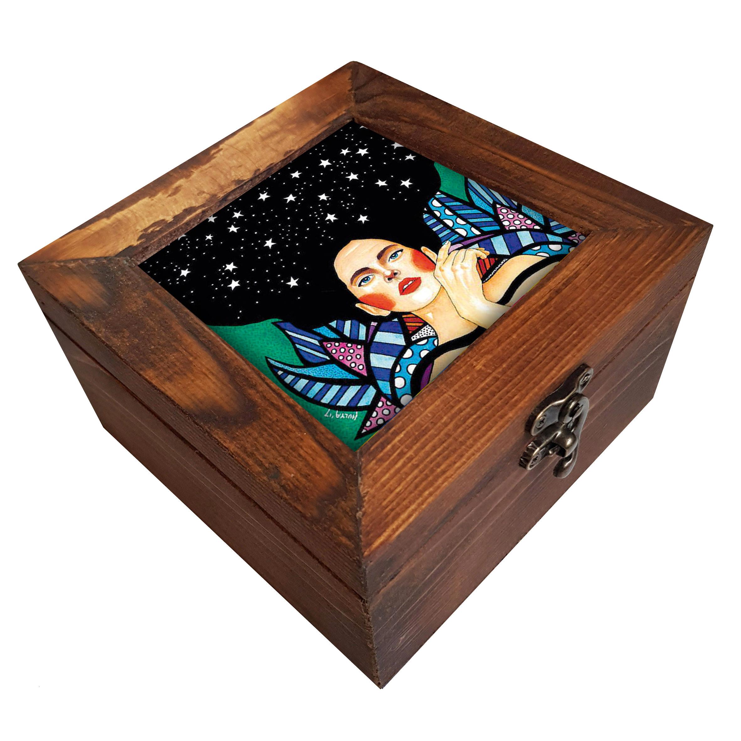 خرید                       جعبه هدیه چوبی کد A77