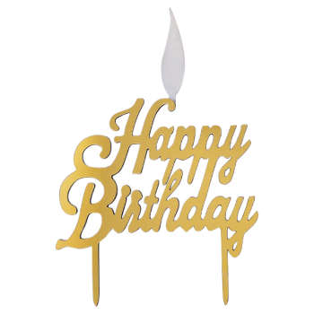 شمع تولد طرح happy birth day کد 340