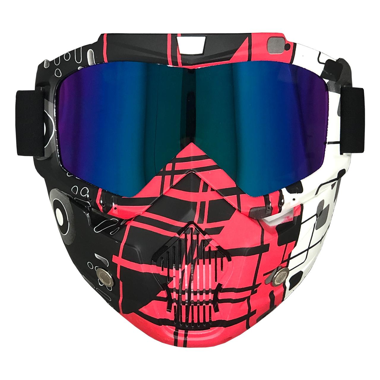 عینک موتور سواری مدل BL_RD_WH