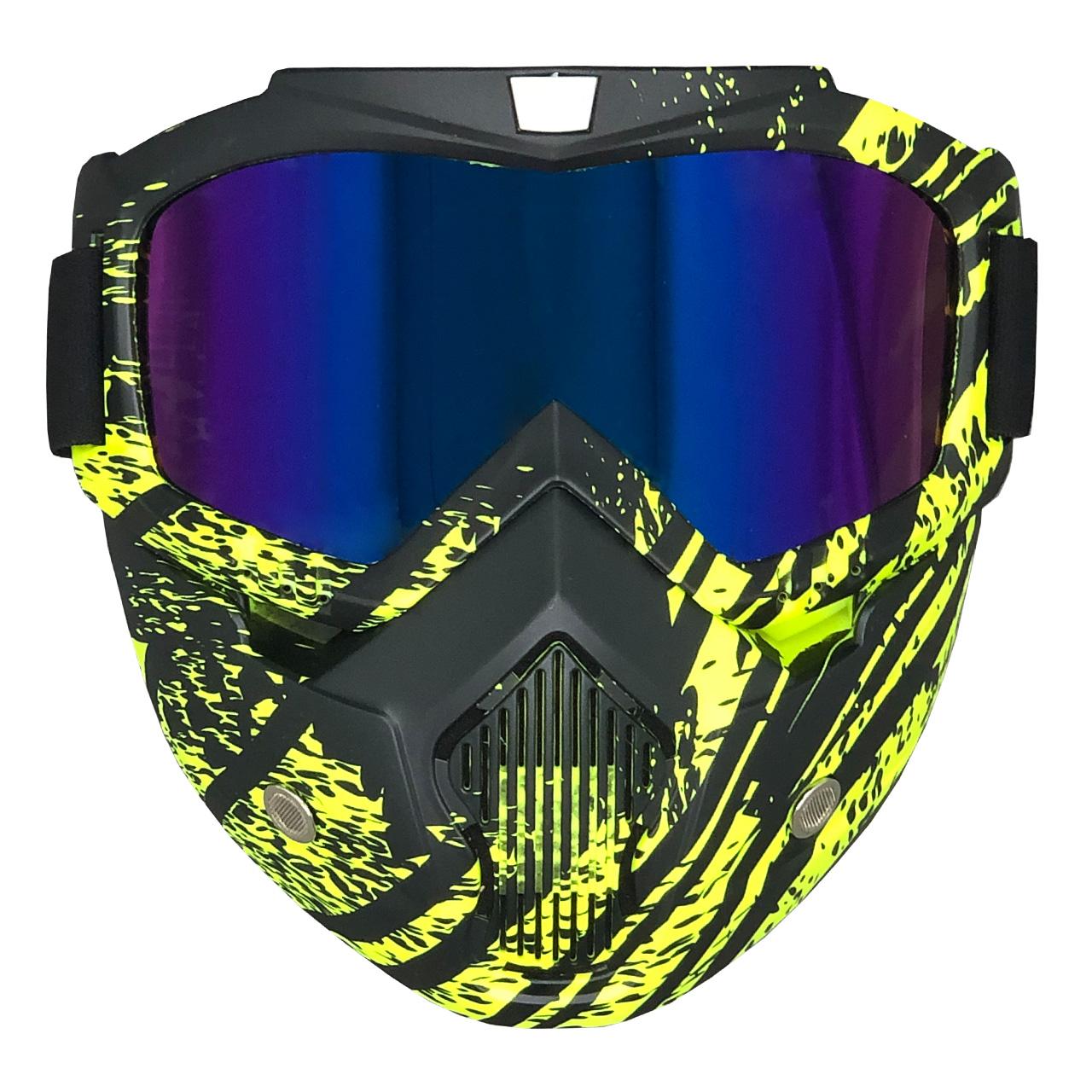 عینک موتور سواری مدل YEL_BLK