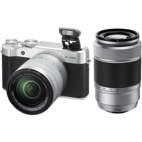 دوربین دیجیتال بدون آینه فوجی فیلم مدل X-A10 به همراه دو لنز 50-16 میلیمتر و 50-230 میلیمتر