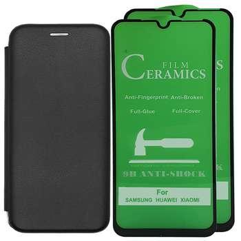 کیف کلاسوری اینفینیتی مدل INFCL2 مناسب برای گوشی موبایل سامسونگ GALAXY A71 به همراه 2 عدد محافظ صفحه نمایش