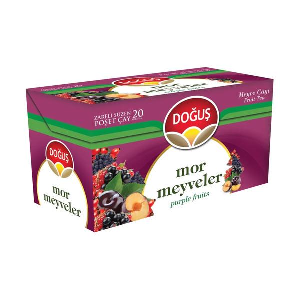 دمنوش میوه های بنفش دوغوش بسته 20 عددی