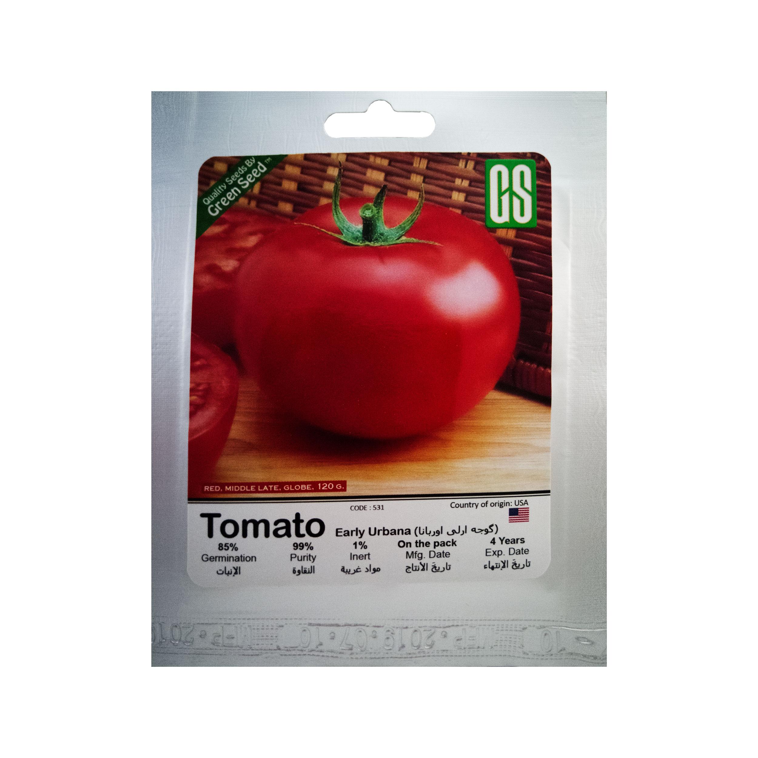 بذر گوجه ارلی اوربانا گرین سید مدل BZG51