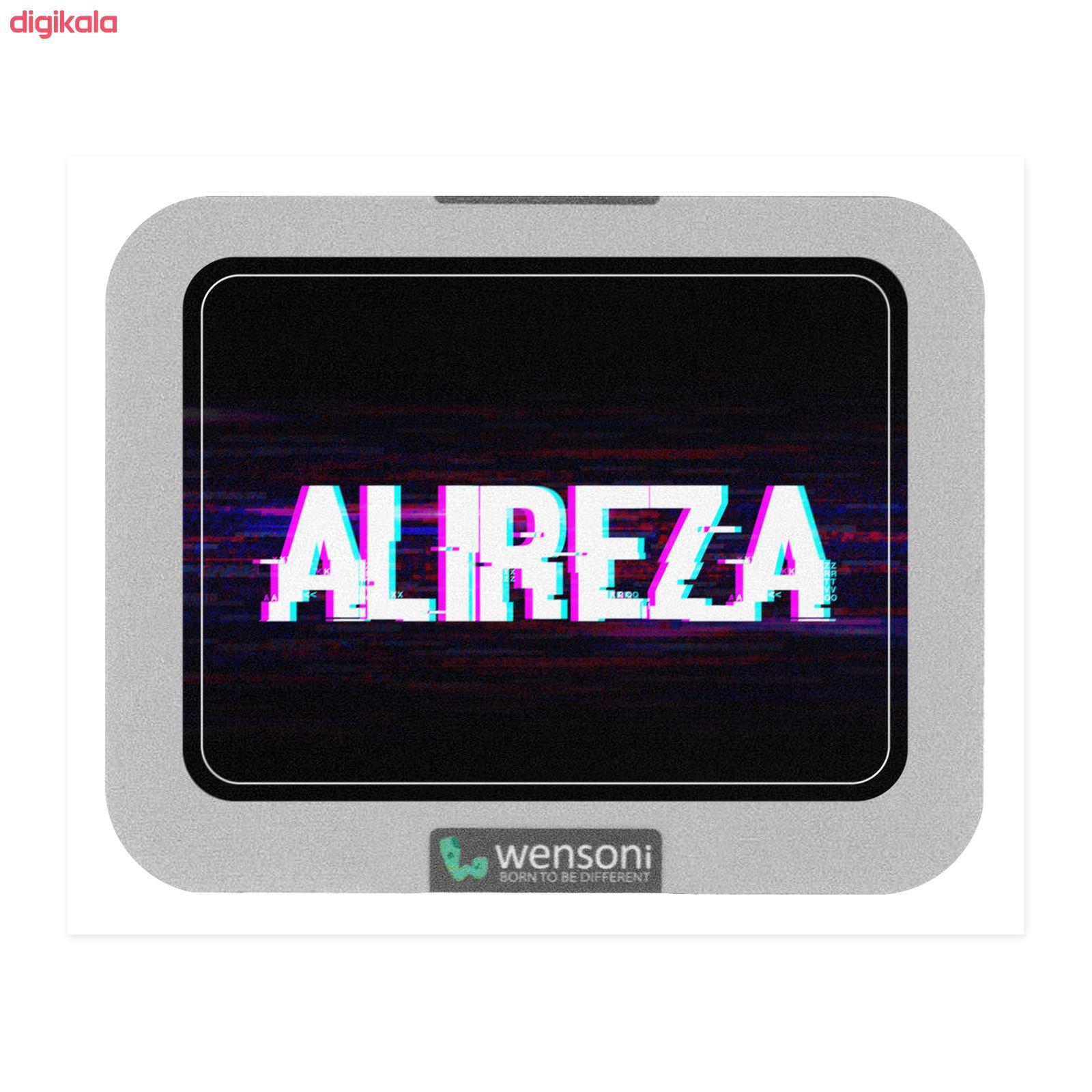 برچسب تاچ پد دسته پلی استیشن 4 ونسونی طرح ALIREZA