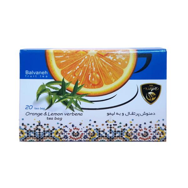 دمنوش کیسه ای پرتقال و به لیمو بالوانه بسته 20 عددی