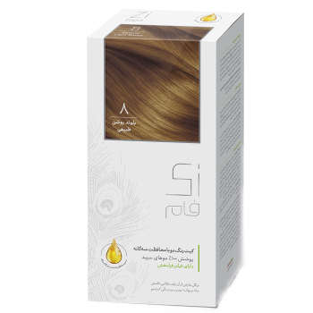 کیت رنگ مو زی فام شماره 8 حجم 50 میلی لیتر بلوند روشن طبیعی