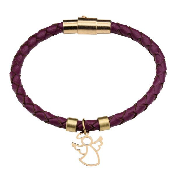 دستبند طلا 18 عیار زنانه طرح فرشته کد 708M404