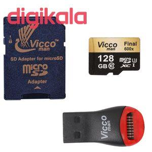 کارت حافظه microSDXC ویکومن مدل Final 600x plus کلاس 10 استاندارد UHS-I U3 سرعت 90MBs ظرفیت 128 گی