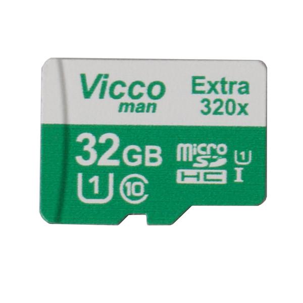 کارت حافظه microSDHC ویکومن مدل Extra 320x کلاس 10 استاندارد UHS-I U1 سرعت 48MBs ظرفیت 32 گیگابایت
