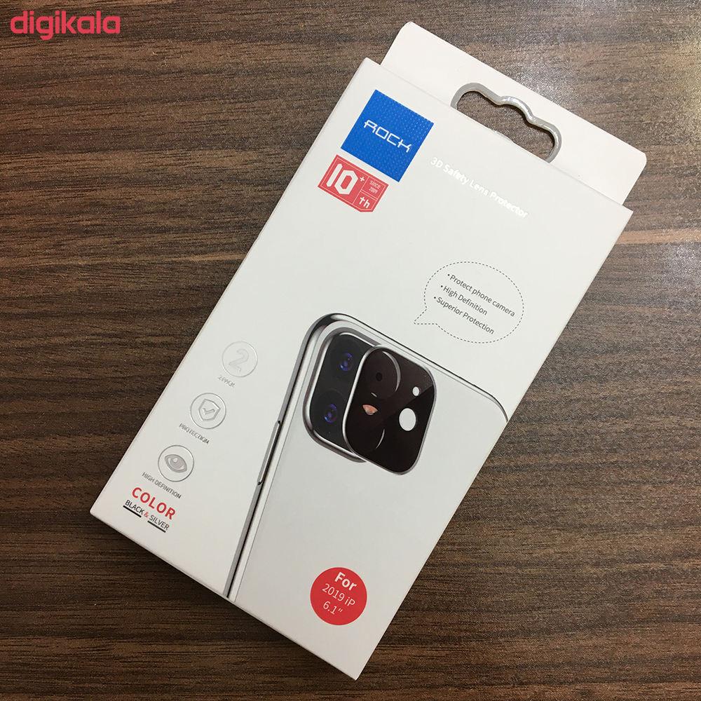 محافظ لنز دوربین راک مدل 3DSLP مناسب برای گوشی موبایل اپل iPhone 11 بسته دو عددی main 1 8