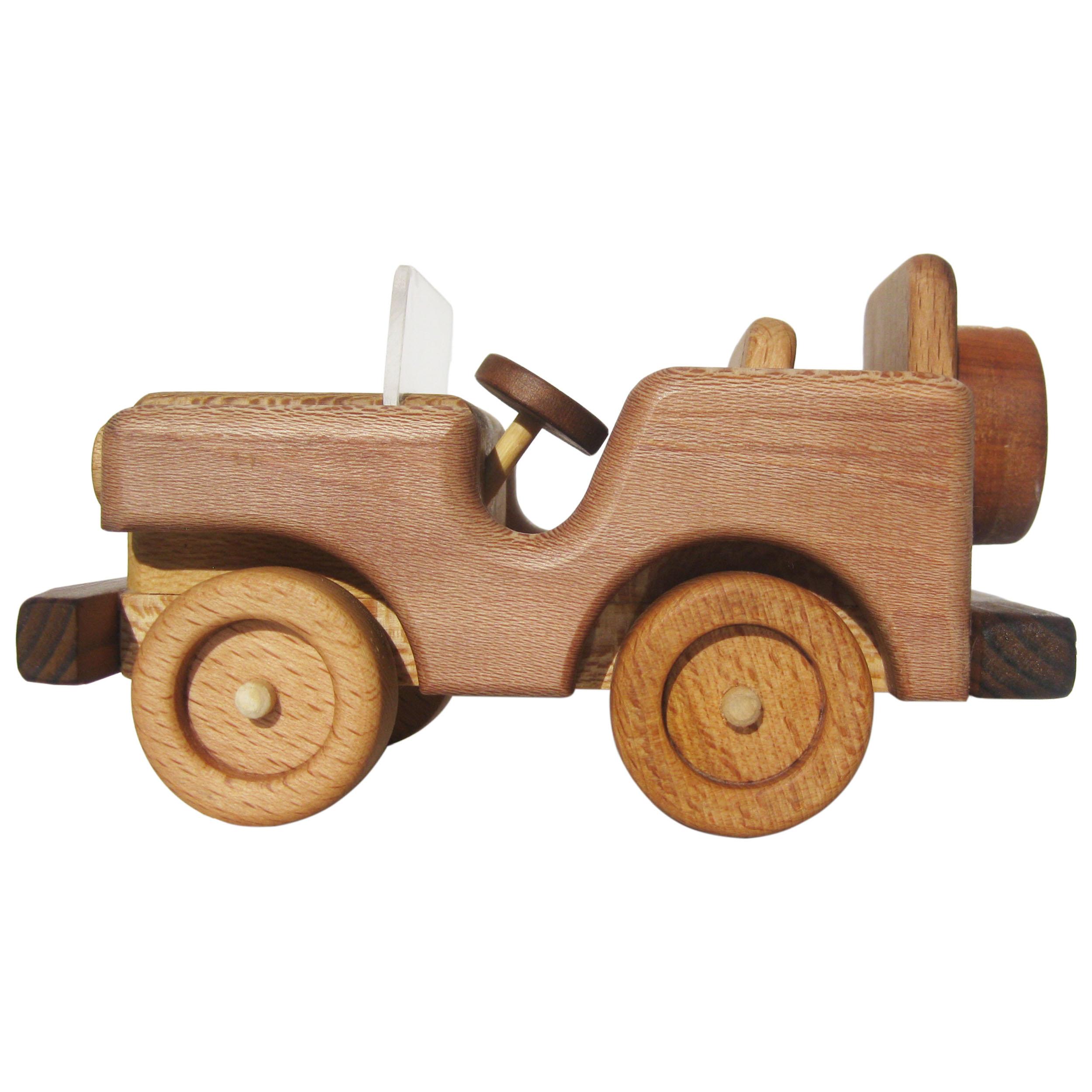 اسباب بازی چوبی مدل jeep