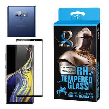 محافظ صفحه نمایش 9D راین مدل R_9L Edge مناسب برای گوشی موبایل سامسونگ Galaxy Note 9 به همراه محافظ لنز دوربین