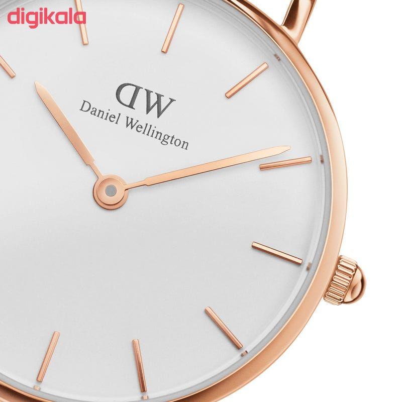 ساعت مچی عقربه ای زنانه دنیل ولینگتون مدل 100219