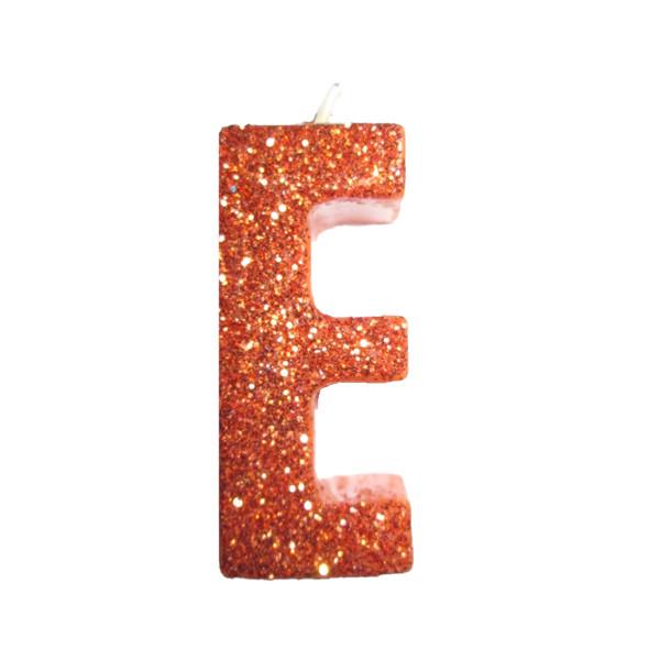 شمع طرح حروف الفبا مدل حرف E