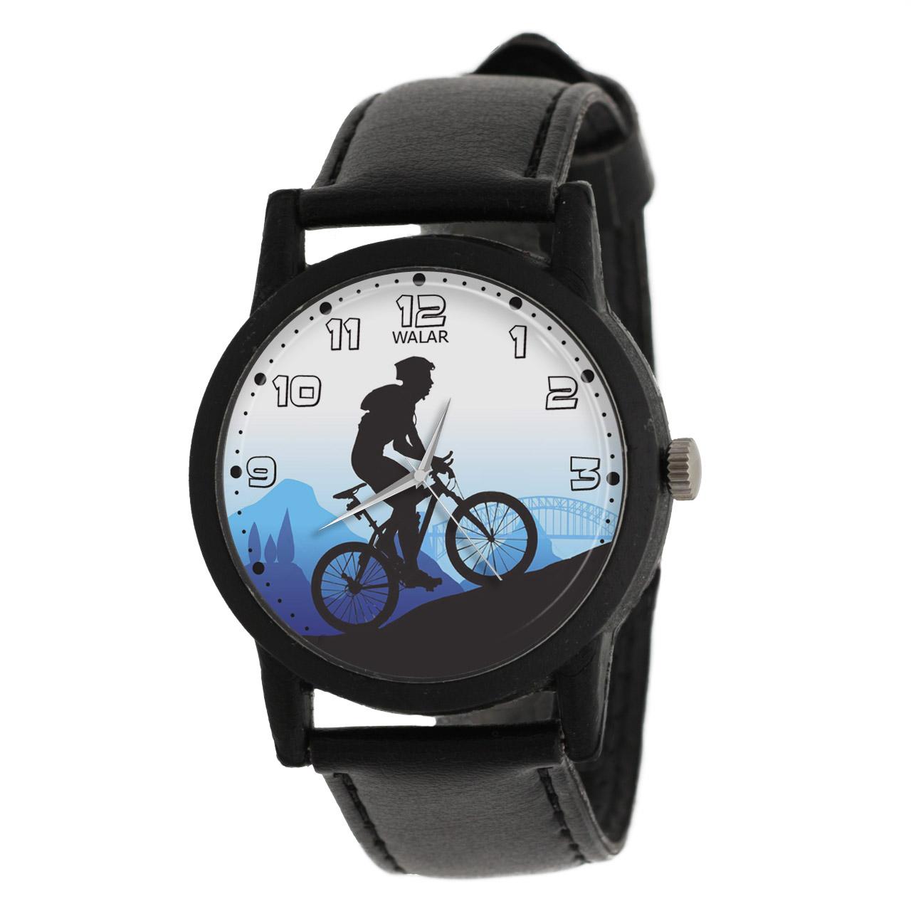 کد تخفیف                                      ساعت مچی عقربه ای والار طرح دوچرخه سواری کد LF2030