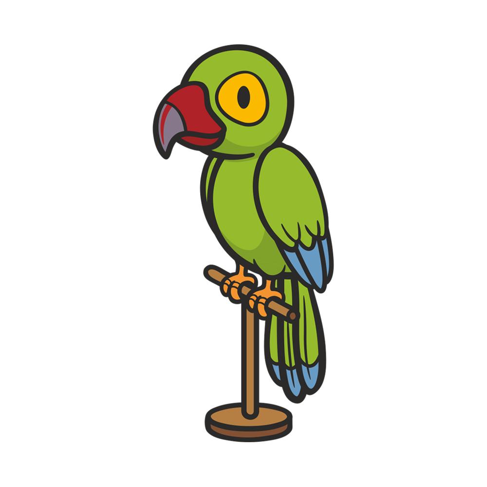 استیکر فراگراف FG طرح طوطی کد 005