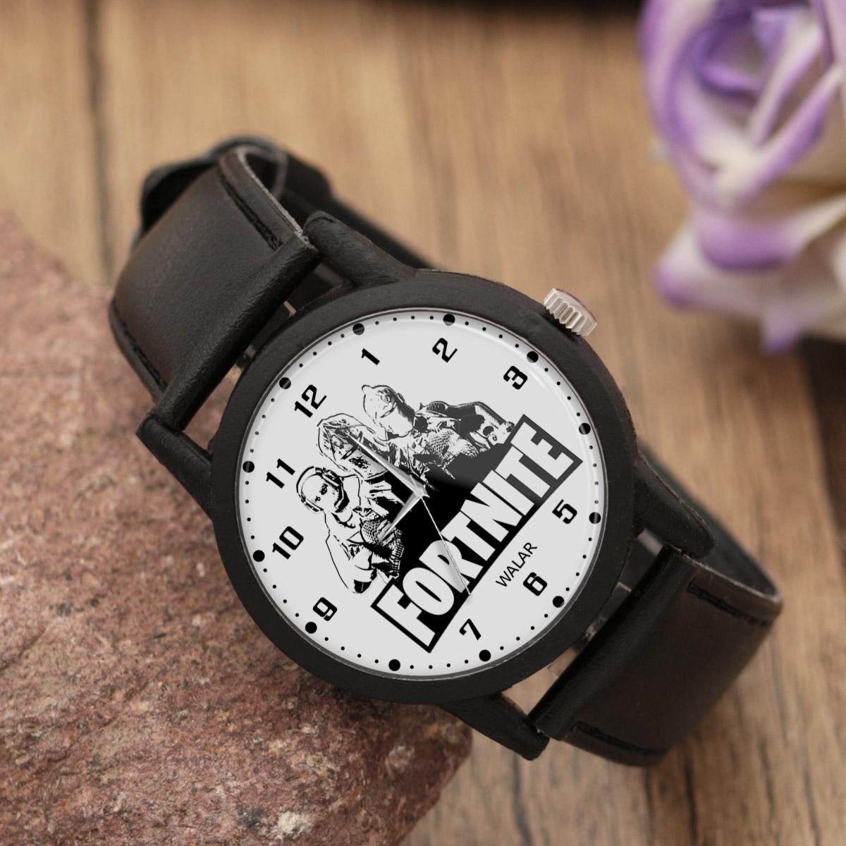 کد تخفیف                                      ساعت مچی عقربه ای والار طرح فورتنایت کد LF2042