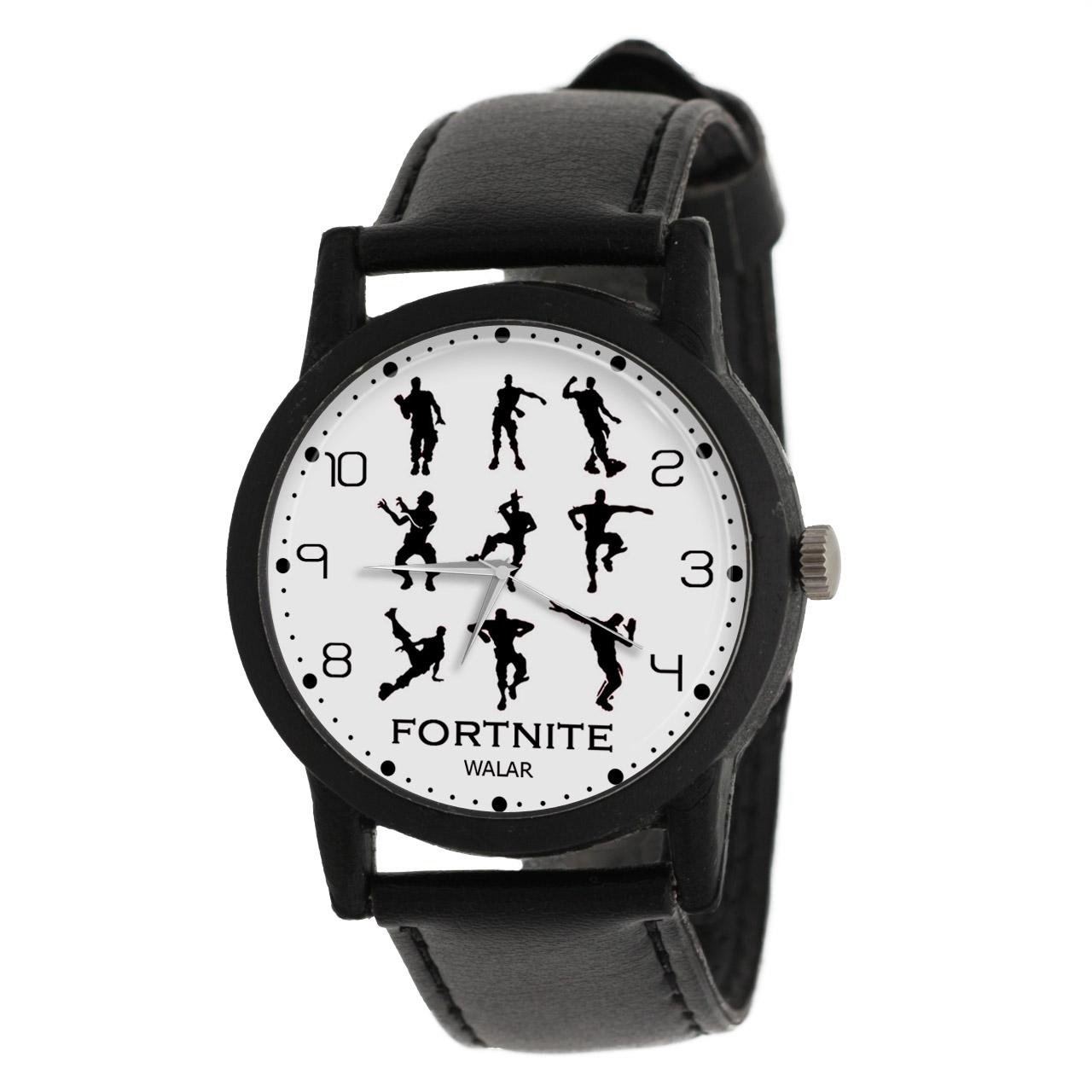 کد تخفیف                                      ساعت مچی عقربه ای والار طرح فورتنایت کد LF2045