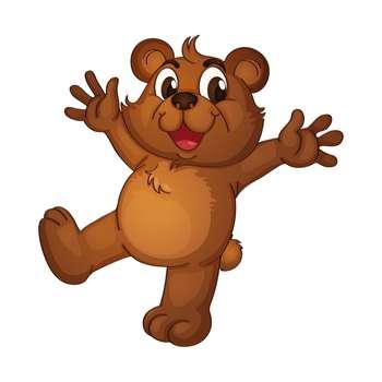 استیکر مستر راد طرح خرس کوچولو کد 018