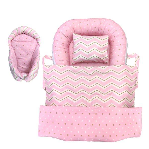 سرویس خواب 4 تکه نوزاد طرح زیگزاگ